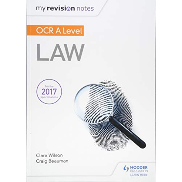 My Revision Notes: OCR A Level Law  Paperback / softback 2018