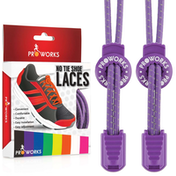 Proworks No Tie Reflective Shoe Laces - Purple