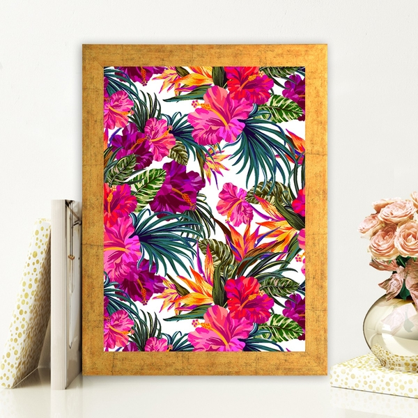 AC481561312 Multicolor Decorative Framed MDF Painting
