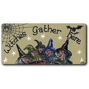 Witches Gather Here Smiley Magnet