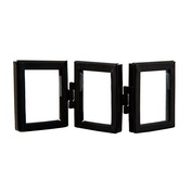 Sass & Belle Jet Black Mini Triple Photo Frame