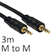 3.5mm (M) Stereo Plug to 3.5mm (M) Stereo Plug 3m Black OEM Cable - Image 2