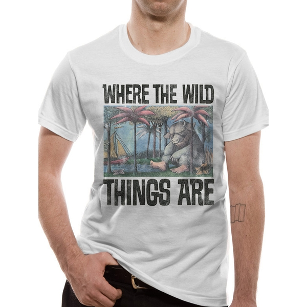 Where The Wild Things Are - Book Cover Men's X-Large T-Shirt - White