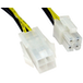 4-Pin ATX (M) to 4-Pin ATX (F) 0.28m Black and Yellow OEM Internal Extension Cable - Image 2