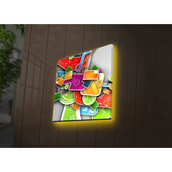 2828DACT-29 Multicolor Decorative Led Lighted Canvas Painting