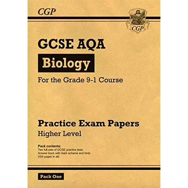 New Grade 9-1 GCSE Biology AQA Practice Papers: Higher Pack 1 by CGP Books (Paperback, 2017)