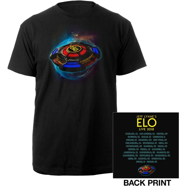 ELO - 2018 Tour Logo Men's Medium T-Shirt - Black