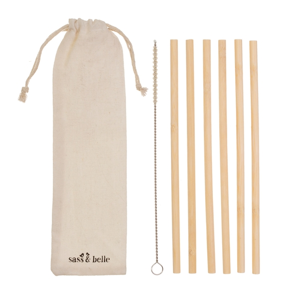 Sass & Belle Bamboo Straws - Set of 6
