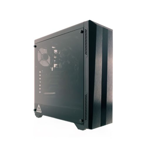 Image of Riotoro CR100TG RGB Gaming Case with Tempered Glass Window & RGB Front Panel, ATX, No PSU, Tempered Glass, 1 x 12cm Fan,...
