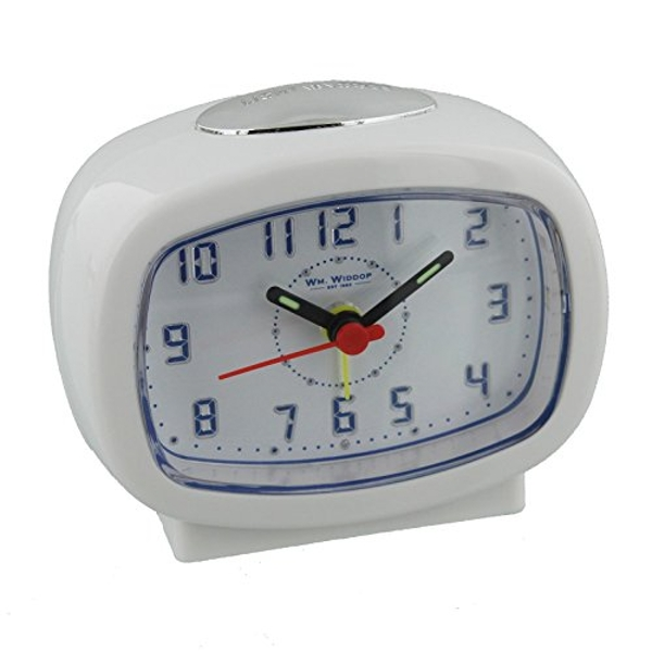 Oblong Alarm Clock - White