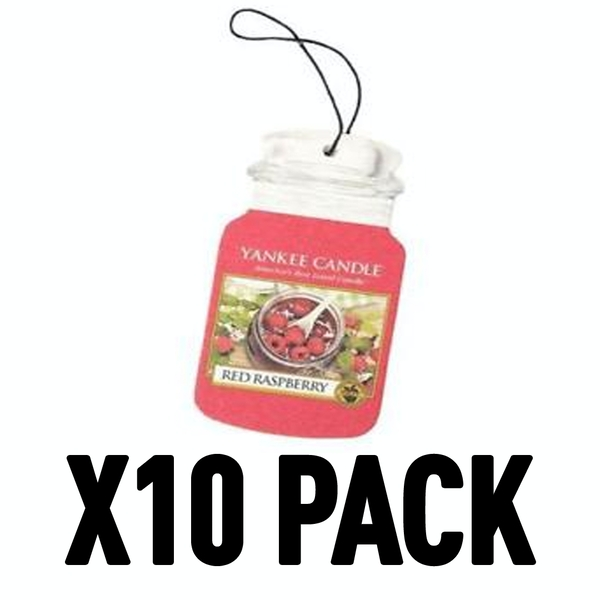 Red Raspberry (Pack Of 10) Yankee Candle Car Jar Air Freshener