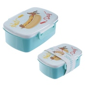 Hot Dog Sausage Dog Clip Lid Plastic Lunch Box