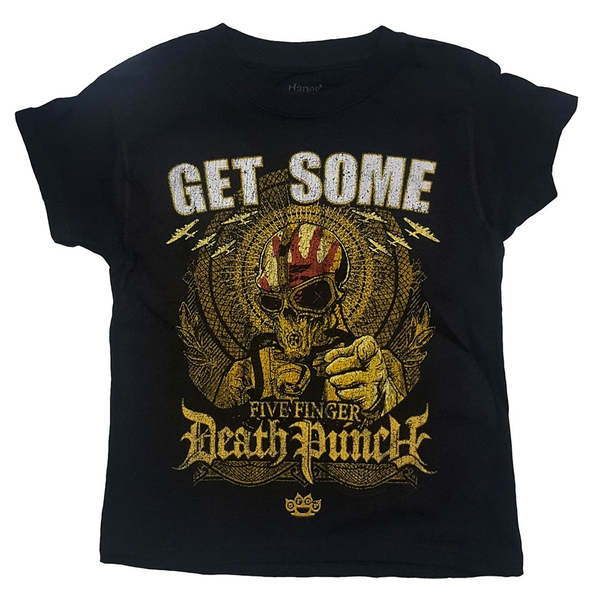 Five Finger Death Punch - Get Some Kids 5 - 6 Years T-Shirt - Black
