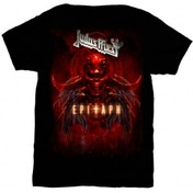 Judas Priest Epitaph Red Horns Mens TS: Small
