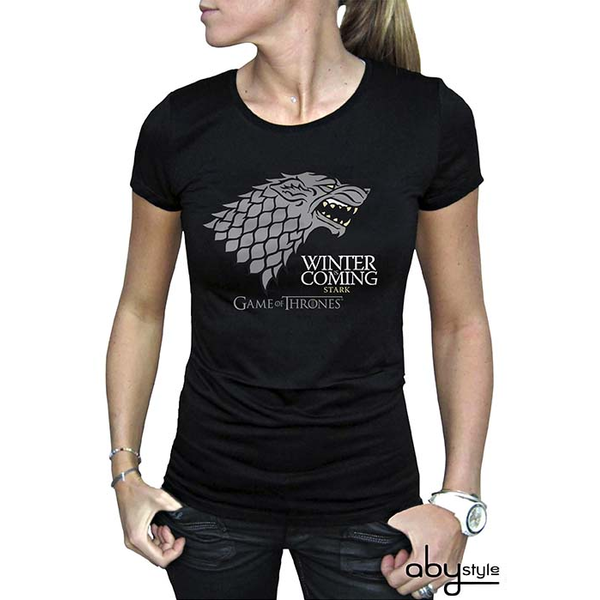 c92d108a4 Game Of Thrones - Winter Is Coming Women's Medium T-Shirt - Black - Image