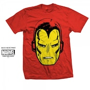 Marvel Comics Iron Man Big Head Mens Red T Shirt Small