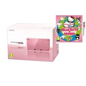 Nintendo Handheld Console in Coral Pink 3DS with Around the World with Hello Kitty & Friends