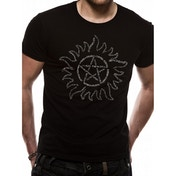 Supernatural - Text Symbol Men's Small T-Shirt - Black