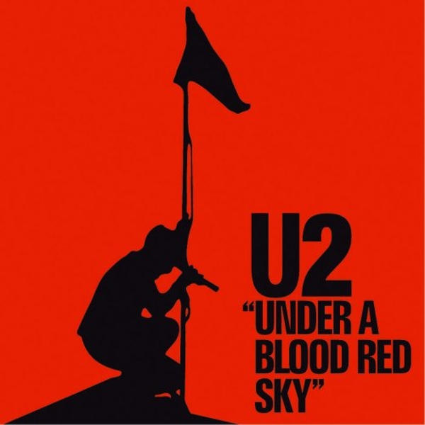 U2 - Under a Blood Red Sky Greetings Card