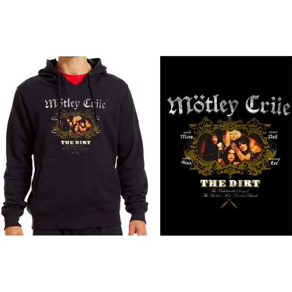 Motley Crue - The Dirt Men's Medium Pullover Hoodie - Black