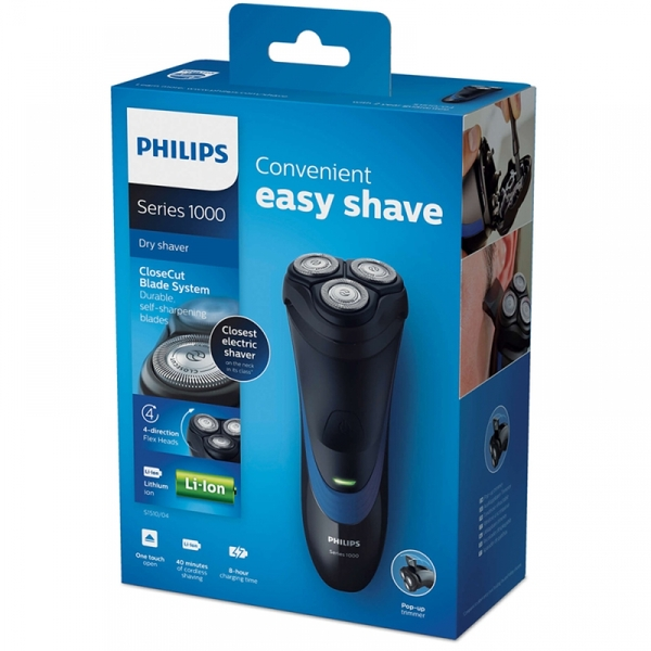 Philips S1510/04 Mens Electric Shaver with Pop-Up Trimmer - Image 2