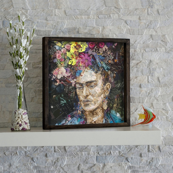 KZM267 Multicolor Decorative Framed MDF Painting