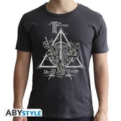 Harry Potter - Deathly Hallows Men's Large T-Shirt - Grey