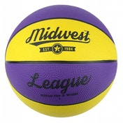 Midwest League Basketball Yellow/Purple Size 7