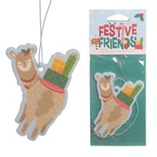 Apple Cinnamon Festive Friends Christmas Alpaca (Pack Of 6) Air Freshener
