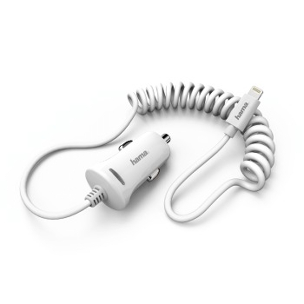 Hama 178263 Auto Car Mobile Phone Chargers ( ? Mobile Phones, Smartphone, Car Charger, White Thermal, Contact, White)