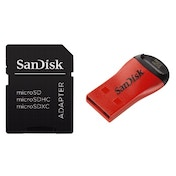 SanDisk Set with a microSD Adapter and a microSD/MemoryStick Micro (M2) USB Reader