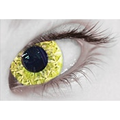 Yellow Abz MesmerGlow UV Cosmetic Lenses 1 Month