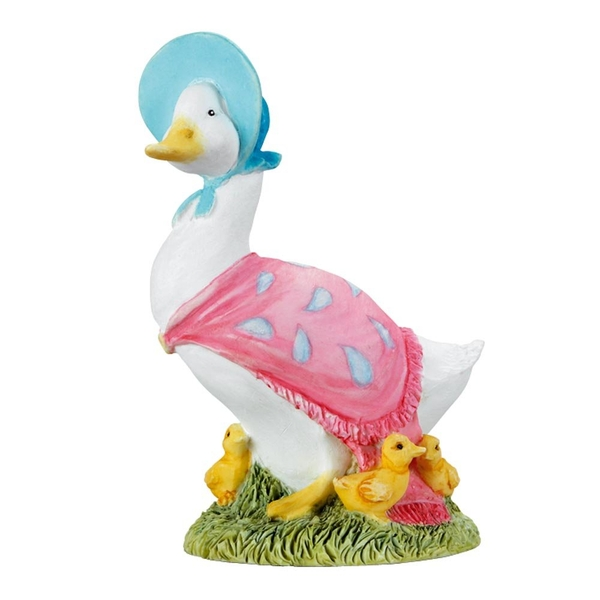 Jemima Puddle Duck with Ducklings Figurine