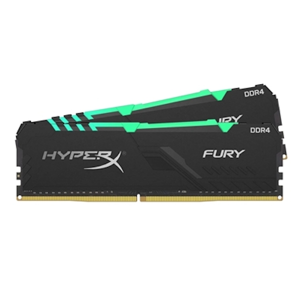 Kingston HyperX Fury RGB 16GB Black Heatsink (2x8GB) DDR4 3200MHz DIMM System Memory