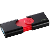 Kingston DataTraveler 106 32GB USB 3.1 Blk / Red USB Flash Drive