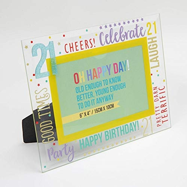 "6"" x 4"" - Oh Happy Day! Glass Photo Frame - 21"