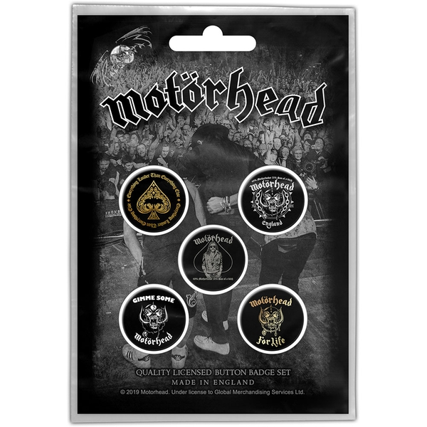 Motorhead - Clean Your Clock Button Badge Pack