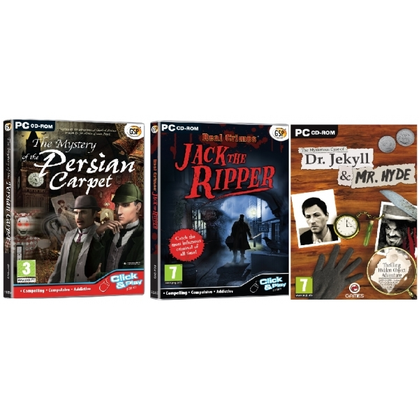Hidden Object Crime & Mystery Bundle PC Game (Sherlock Persian Carpet, Jack The Ripper, Dr Jekyll)