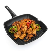 Savisto Non-Stick Cast Aluminium Griddle Pan with Detachable Handle