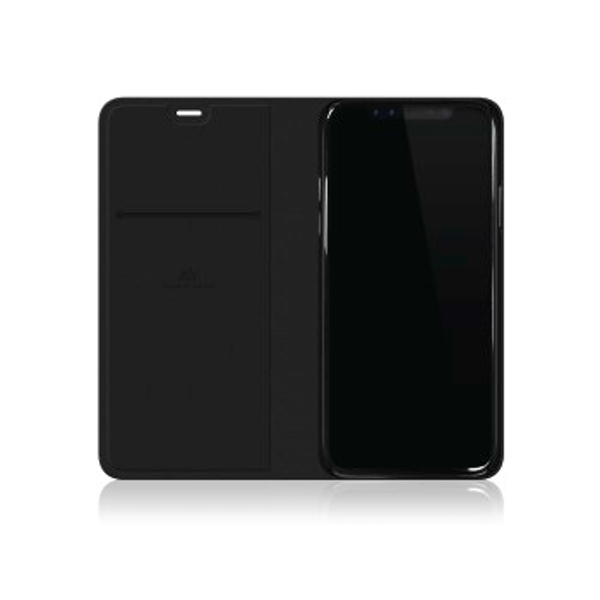 Black Rock Material Booklet Pure Case for iPhone X - Black