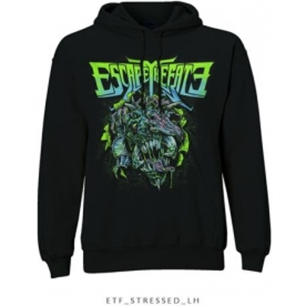 Escape The Fate Stressed Pullover Hoodie Black: X Large