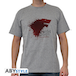 Game Of Thrones - The North... Men's Large T-Shirt - Grey - Image 2