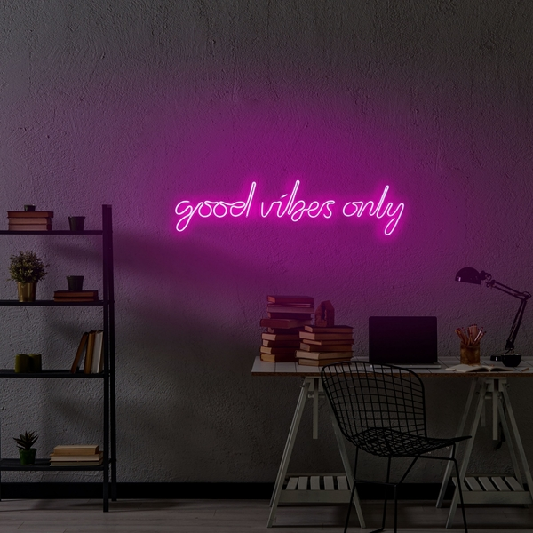 Good Vibes Only - Pink Pink Wall Lamp