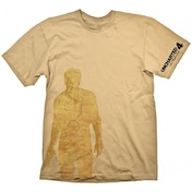 Uncharted 4 Nathan Drake Map T-shirt Beige X-Large