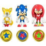 Sonic the Hedgehog 3 Inch 25th Anniversary Action Figures Collectible Coins/Sonic/Knuckles/Tails