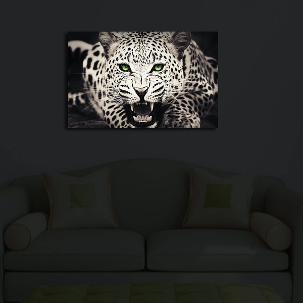 4570?ACT-43 Multicolor Decorative Led Lighted Canvas Painting