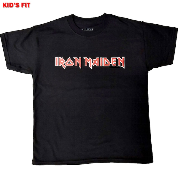 Iron Maiden - Logo Kids 7 - 8 Years T-Shirt - Black