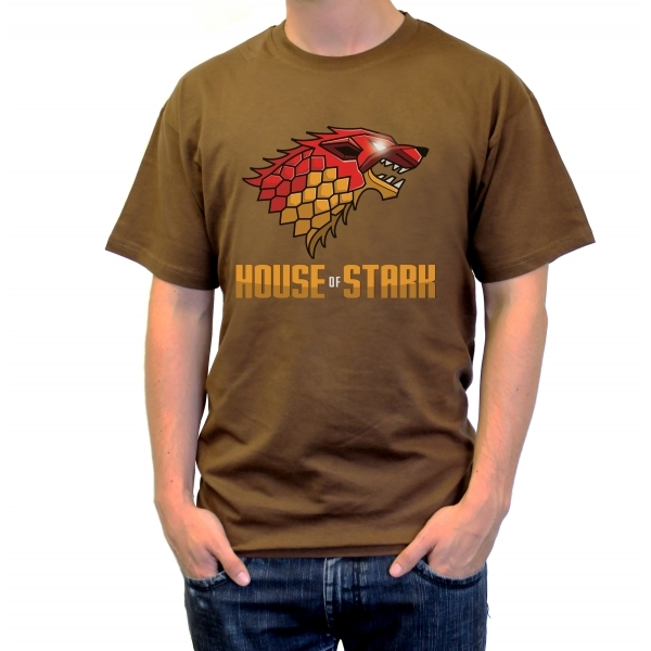Game of Thrones House of Stark Chocolate Brown T-Shirt Small ZT