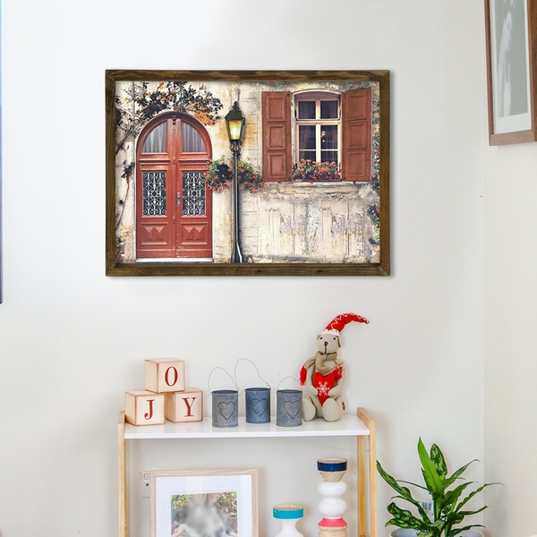 MZM782 Multicolor Decorative Framed MDF Painting