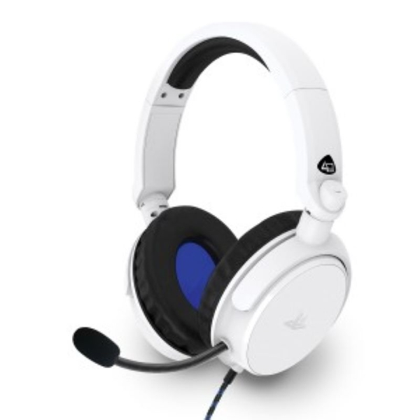 4Gamers Licensed PRO4-50s Stereo Gaming Headset White For PS4/PS5
